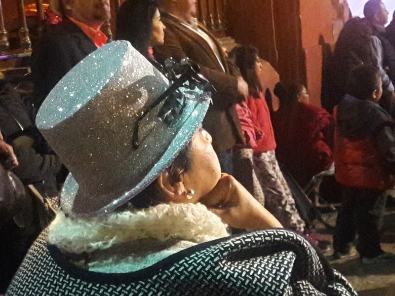 New Year's Eve Fireworks Watcher Woman San Miguel de Allende Mexico live like local
