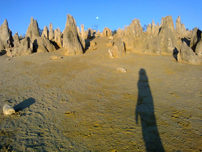 Pinnacles Desert Best Attraction Western Australia Perth Off Beaten Track Odd Unusual Strange shadow