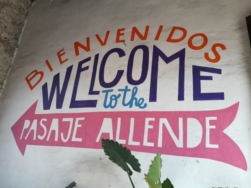 Welcome wall painting UNESCO World Heritage Site San Miguel de Allende Mexico live like local