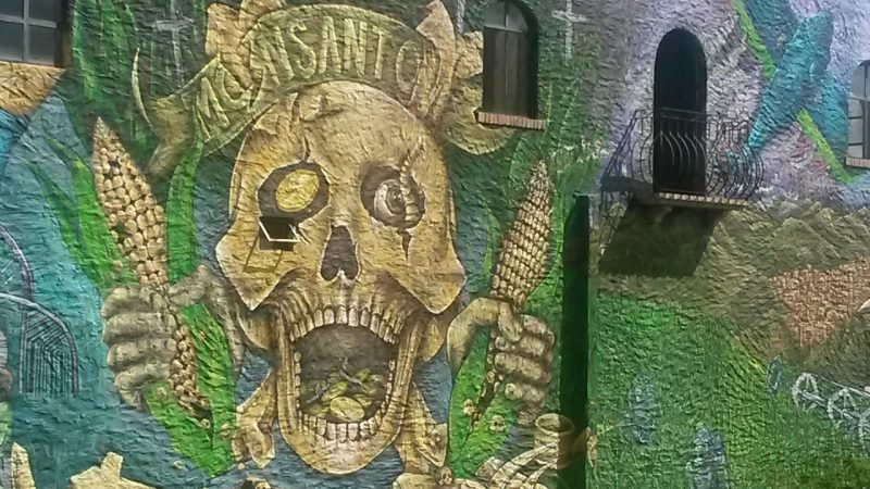 monsanto diablo street art wall mural UNESCO World Heritage Site San Miguel de Allende Mexico live like local